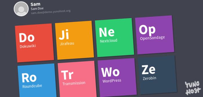 Interface utilisateur Yunohost